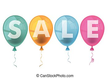 4 Colored Balloons Sale