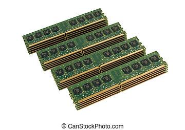 4 column of computer memory modules 2