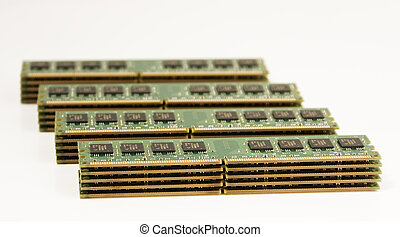 4 column of computer memory modules