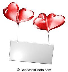 4, coração, etiqueta