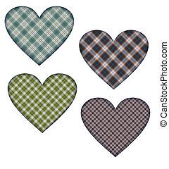 4, corações