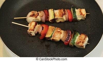 4, cuisine, dégonfler kebabs