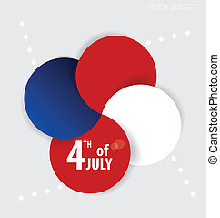 4., day., vektor, hintergrund, juli, unabhängigkeit, design.