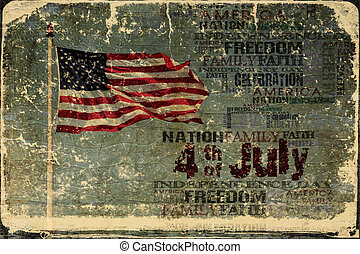 4 de julho, bandeira americana