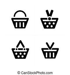 4 design Shopping cart Icon Set