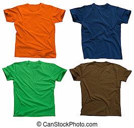 4, em branco, camisetas