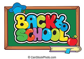 4, escola, tema, costas