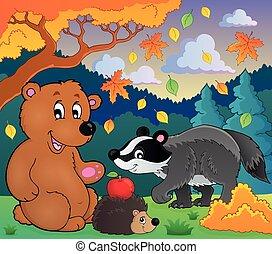 4, fauna, tema, imagem, floresta