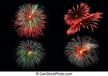 4 Fireworks pattern