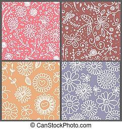 4 floral patterns