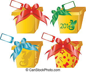4 gift boxes