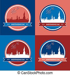 4 illustration for Independence day of America