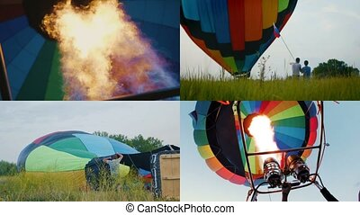 4 in 1: Balloon Festival - Preparing and taking off...
