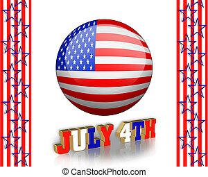 4 juillet, art, agrafe
