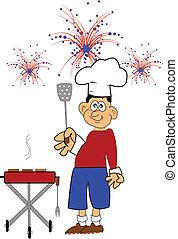 4 juillet, barbecue