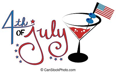 4 juillet, cocktail