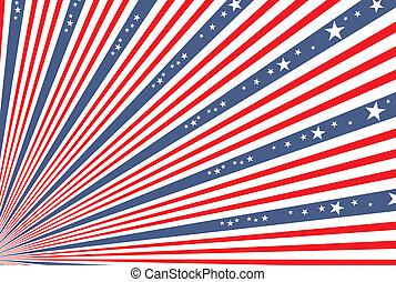 4 juillet, jour, fond, indépendance