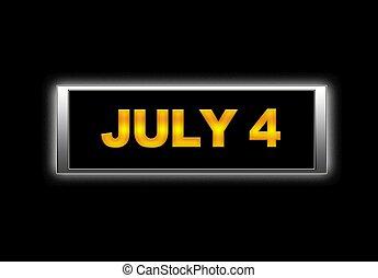 4., juillet