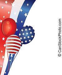 4 julho, balões