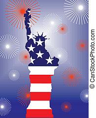 4 julho, -, dia, independência