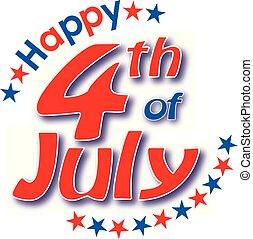 4 julho, feliz