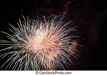 4 julho, fogos artifício, série