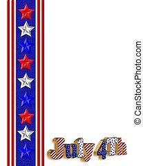 4. juli, patriotisch, umrandungen
