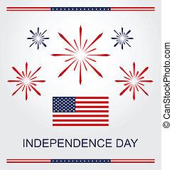 4 julio, día de independencia de american