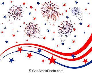 4 julio, -, día, independencia