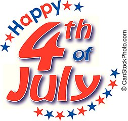 4 julio, feliz