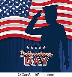 4 julio, independencia, américa, unido, conjunto, estados, ...