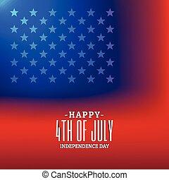 4 julio, plano de fondo, con, bandera estadounidense