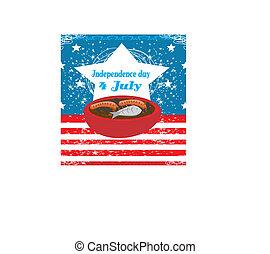 4 julio, plano de fondo, día de independencia