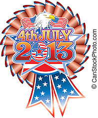 4 July 2013 Rosette eagle - 4th July 2013 Star with Stars &...