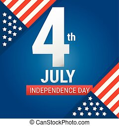 4 July american independence day design