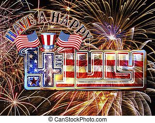 4 July Fireworks hat