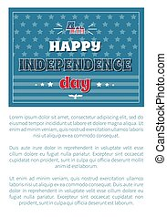 4 July Happy Independence Day Poster American Flag