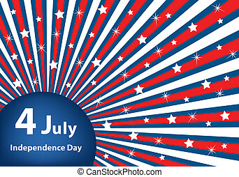 4 July independence day background - American flag...