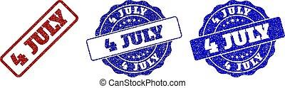 4 JULY Scratched Stamp Seals - 4 JULY scratched stamp seals...
