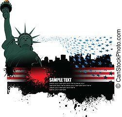 4 july, %u2013, szabadság nap, közül, egyszínű