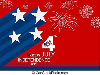 4 july USA independence day design vector illustration