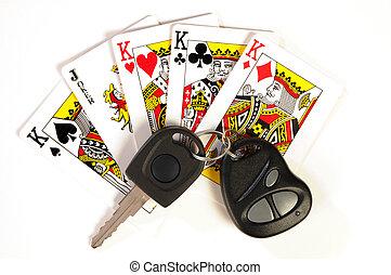 4 Kings & Joker - Playing cards. Four kings and joker