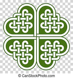 4-leaf clover shaped Celtic knot