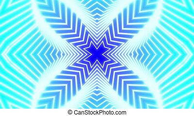 4 Leafs Clover kaleidoscope - kaleidoscope effect background...