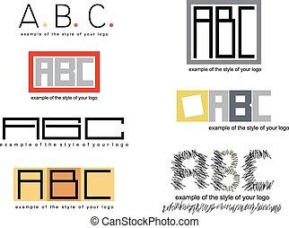 4., logotipo, stile, vettore