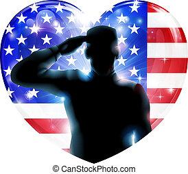 4 luglio, giorno, indipendenza, saluto