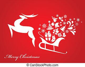 4, navidad, plano de fondo, -