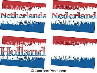 4, netherlands, 抽象的, 旗, versions