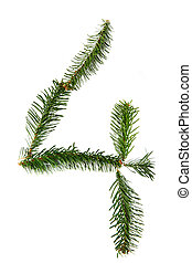 4 - number symbol from christmas alphabet
