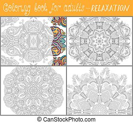 unique coloring book for adults - 4 pages of unique coloring...